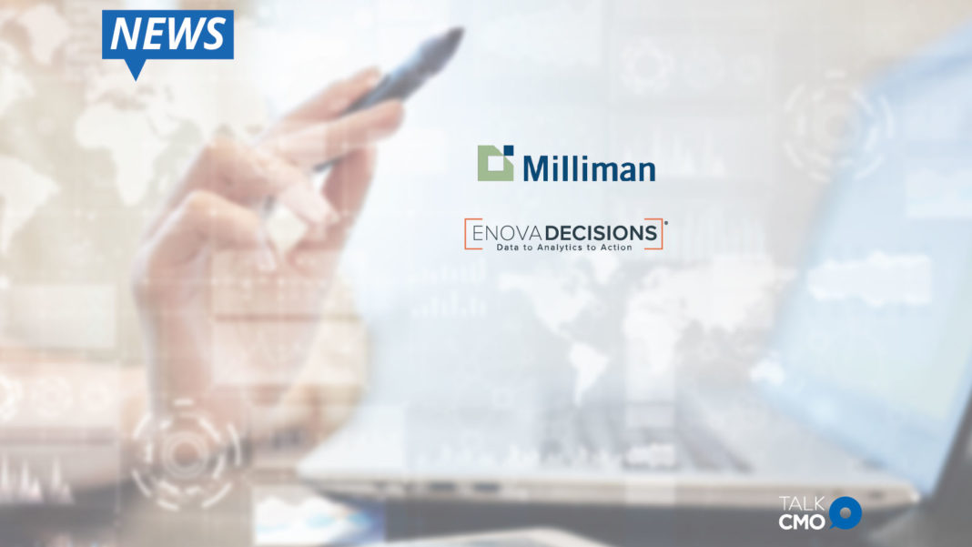 Milliman, Enova, advanced analytic solutions, life insurance industry, customer retention